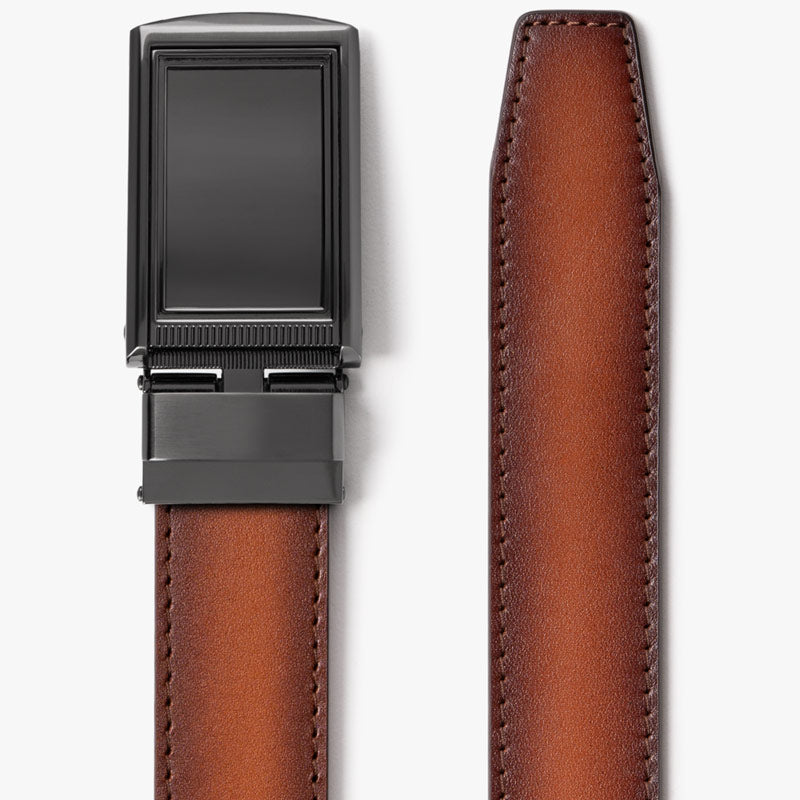 Cognac Full Grain Leather Belt