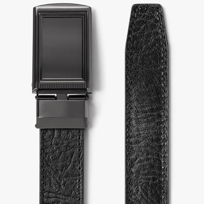Black Top Grain Leather Belt
