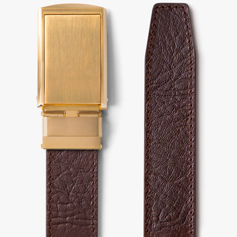 Brown Top Grain Leather Belt