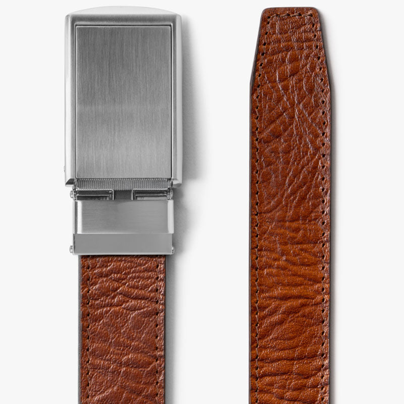 Walnut Top Grain Leather Belt