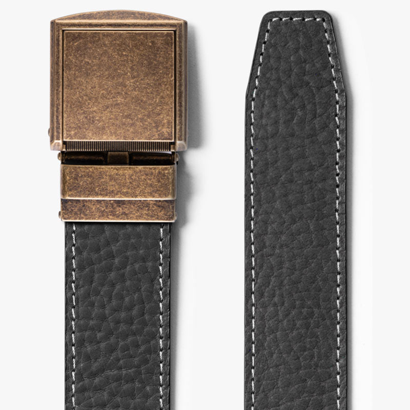 Wide Ash Full Grain Leather Belt