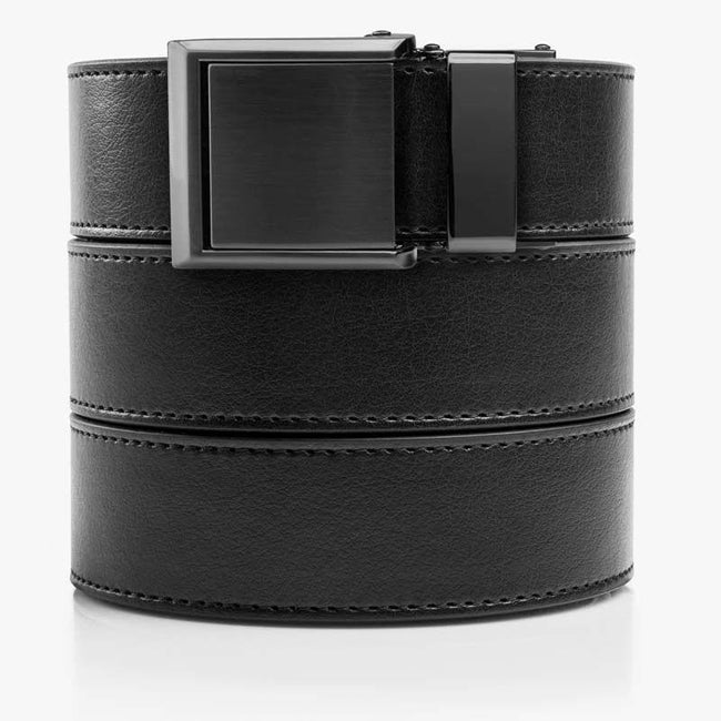 Black Belt with Square Buckle - SlideBelts