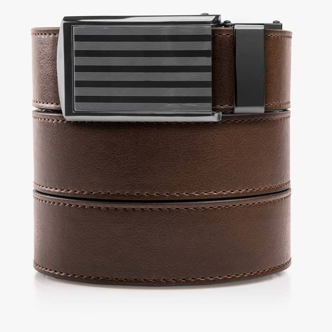 Mocha Brown Golf Belt - SlideBelts