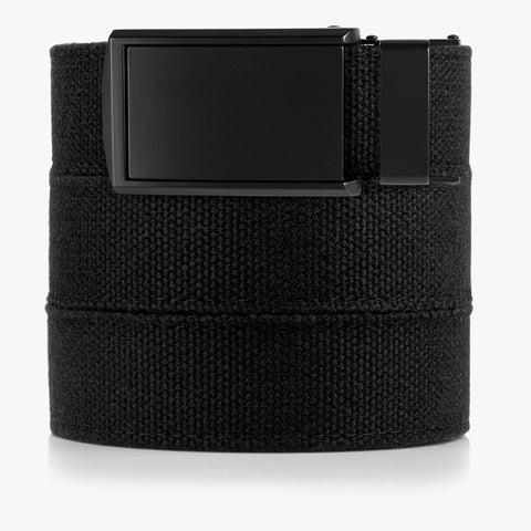 Vegan Black Canvas Belt - SlideBelts