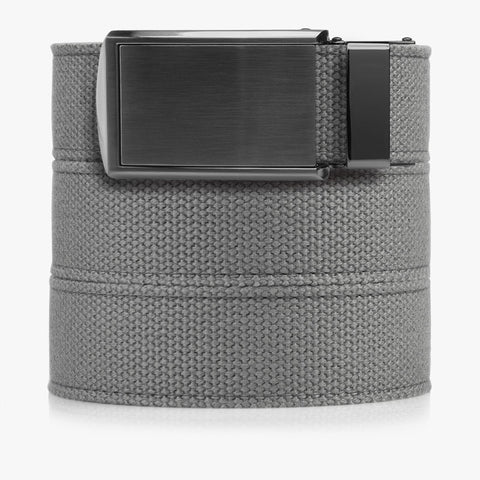 Vegan Grey Canvas Belt - SlideBelts