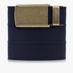 Vegan Navy Canvas Belt - SlideBelts