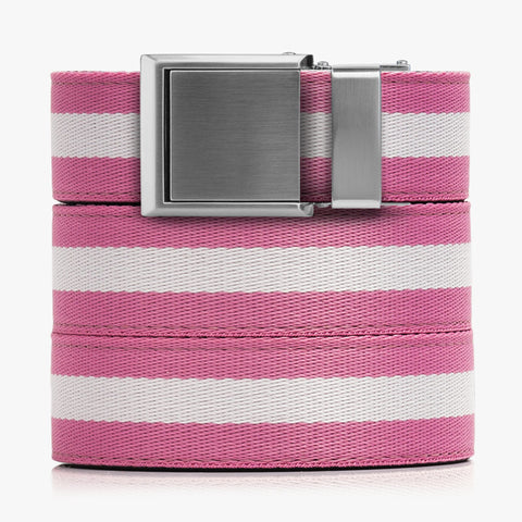 Pink and White Canvas Belt
