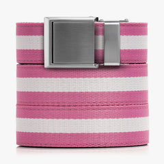 Pink and White Canvas Belt - SlideBelts