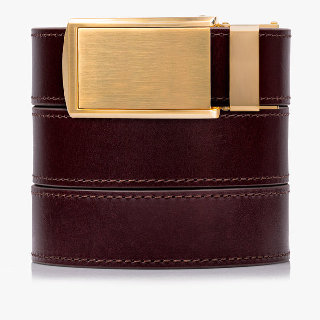 Cordovan Full Grain Leather Golf Belt