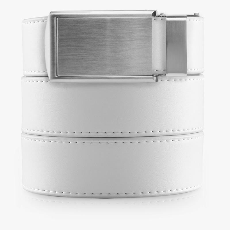 White Golf Belts - SlideBelts