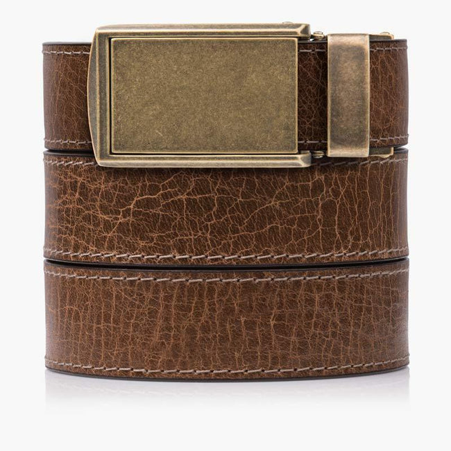 Hickory Full Grain Leather Golf Belts - SlideBelts