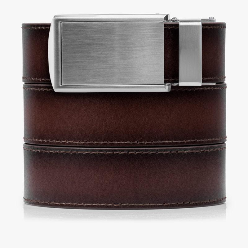 Mahogany Full Grain Leather Golf Belt - SlideBelts