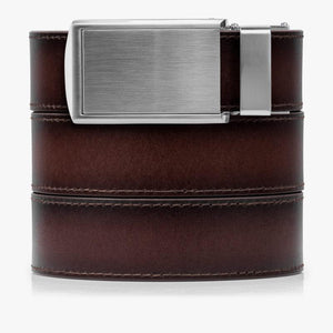 Mahogany Full Grain Leather Golf Belts