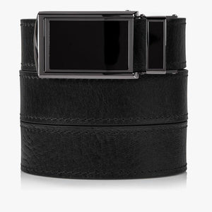 Black Top Grain Leather Golf Belts