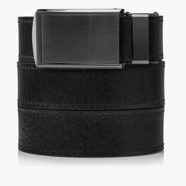 Black Top Grain Leather Golf Belt - SlideBelts