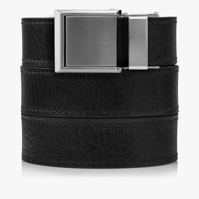 Womens Black Top Grain Leather Belt - SlideBelts
