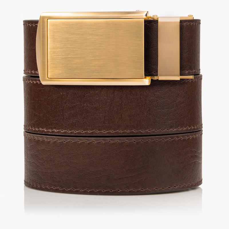 Brown Top Grain Leather Golf Belt - SlideBelts
