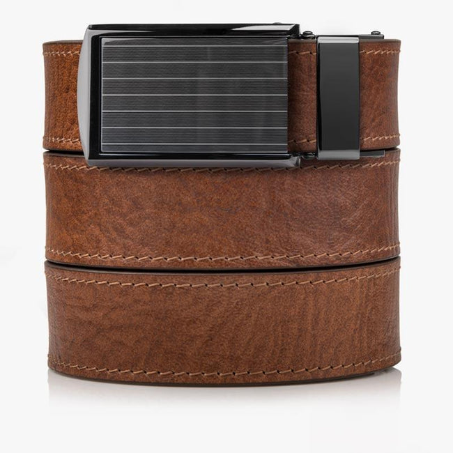 Walnut Top Grain Leather Golf Belt - SlideBelts