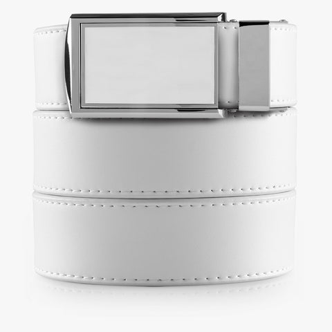Vegan White Belt - SlideBelts