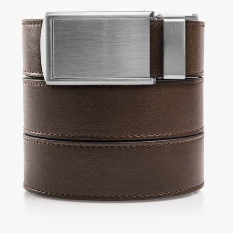 Vegan Mocha Brown Belt - SlideBelts