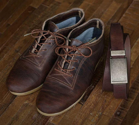 Horween Leather Belt and Bespoke Benjamin Shoes