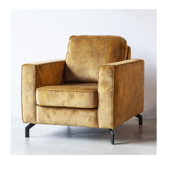 CHAIR ISABELLA  COGNAC  MICRO LEATHER