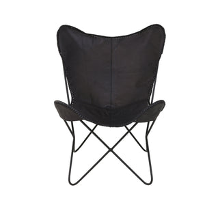 Butterfly Chair Black Leather by Melanie Interior Design