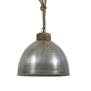 HANGING LAMP SILVER WOOD