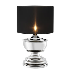 TABLE LAMP PAGODA NICKEL FINISH