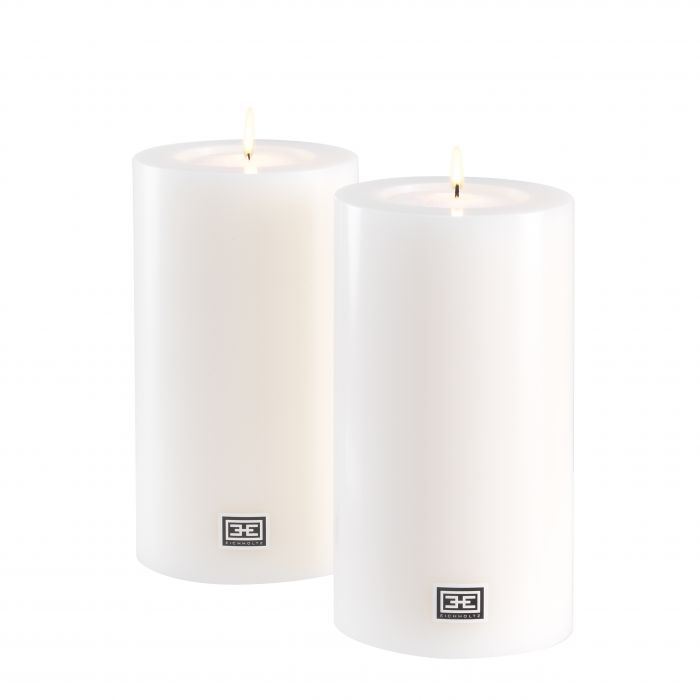 Artificial Candle Ø 10 X H. 18 CM SET OF 2 by Melanie Interior Design