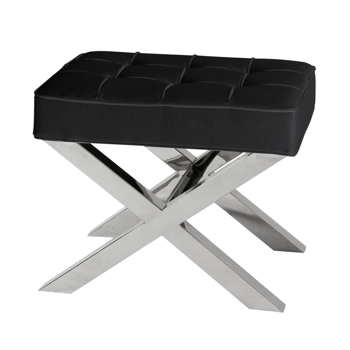 STOOL BEEKMAN PLACE BLACK LEATHER LOOK