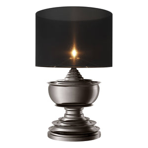 TABLE LAMP PAGODA BLACK NICKEL FINISH