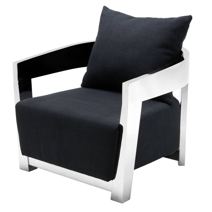 CHAIR RUBAUTELLI BLACK STEEL BY MELANIE INTERIOR DESIGN