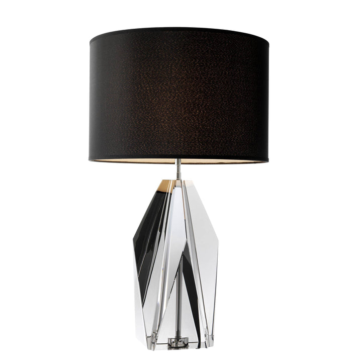 Table Lamp Setai Smoke Crystal Glass by Melanie Interior Design