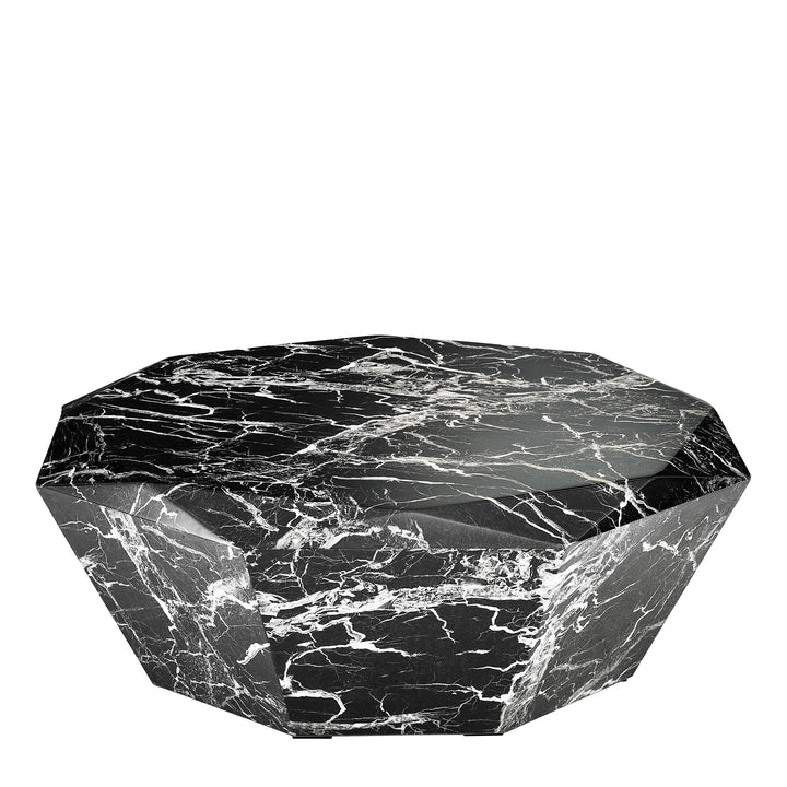 Coffee Table Diamond Black Faux Marble