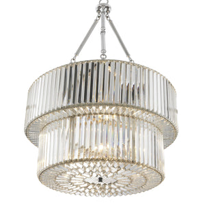 CHANDELIER INFINITY DOUBLE NICKEL FINISH
