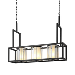 CHANDELIER CARDUCCI SCHWARZES FINISH