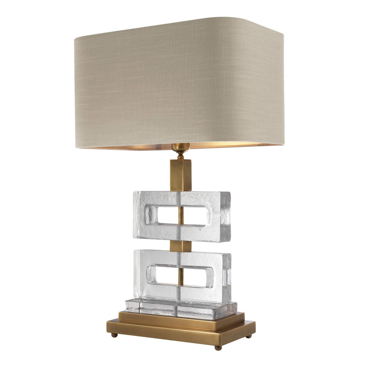 TABLE LAMP UMBRIA VINTAGE BRASS FINISH