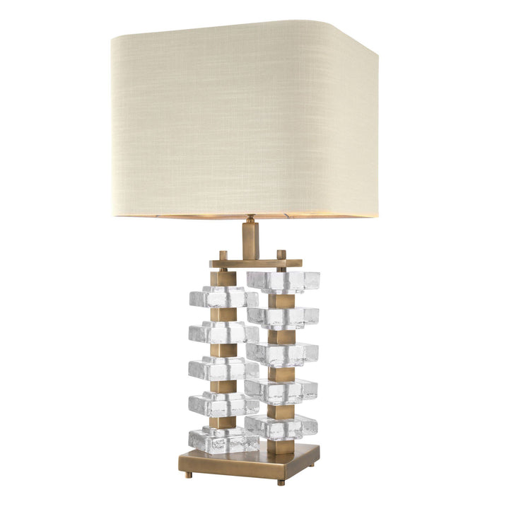 Table Lamp Toscana Vintage Brass Finish