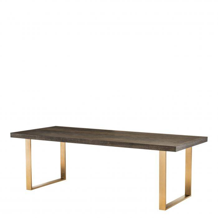 Dining Table Melchior Brown Oak Veneer 230 cm