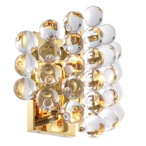 WANDLAMPE MYLO GOLD FINISH