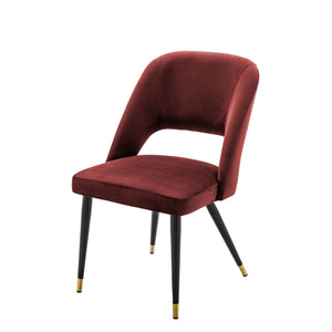 Dining Chair Cipria Roche Bordeaux Velvet by Melanie Interior Design