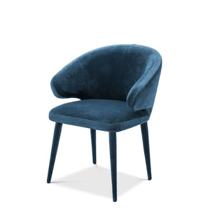 DINING CHAIR CARDINALE ROCHE BLUE BY MELANIE INTERIOR DESIGN