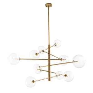 CHANDELIER ARGENTO MESSING FINISH L.