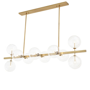CHANDELIER LARGO ANTIKE MESSINGFINISH