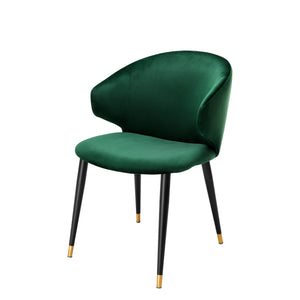 DINING CHAIR VOLANTE ROCHE DARK GREEN