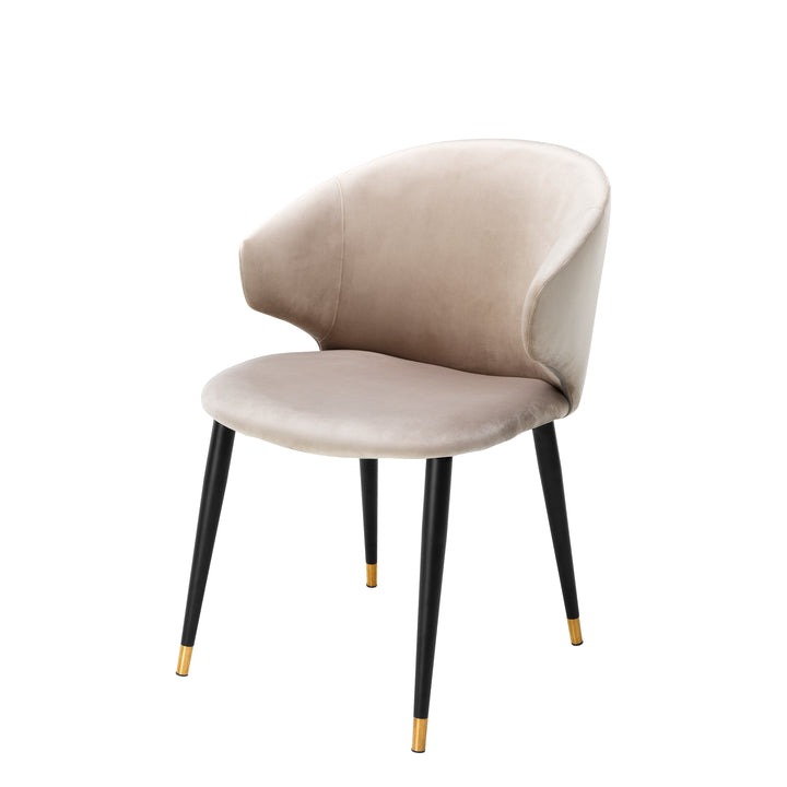 DINING CHAIR VOLANTE ROCHE BEIGE BY MELANIE INTERIOR DESIGN