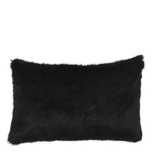 SCATTER PILLOW ALPINE BLACK FAUX