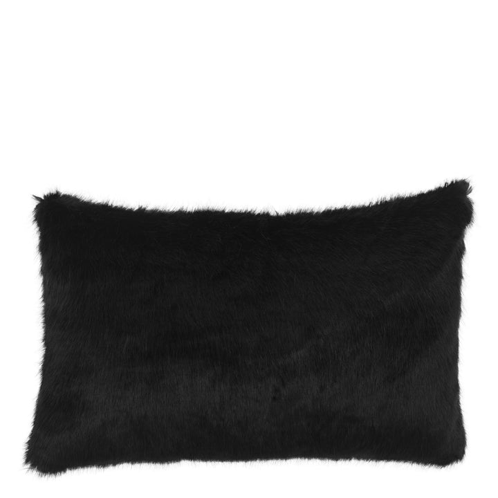 Scatter Cushion Black Faux