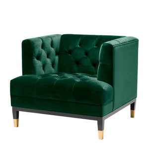 CHAIR CASTELLE GREEN VELVET